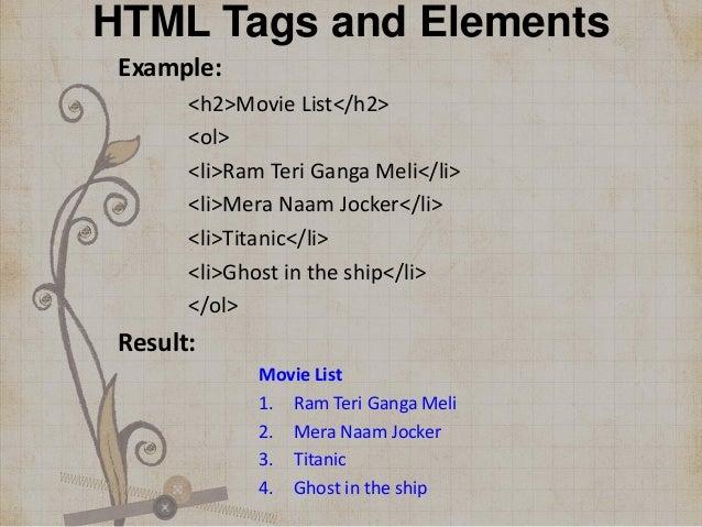 Html wikipedia.