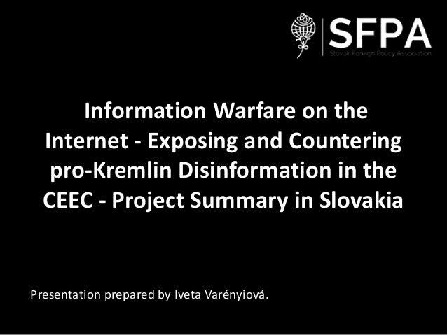 Presentation information warfare on the internet - sk
