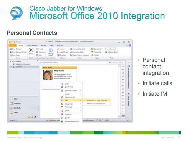 Cisco Presentation jabber update