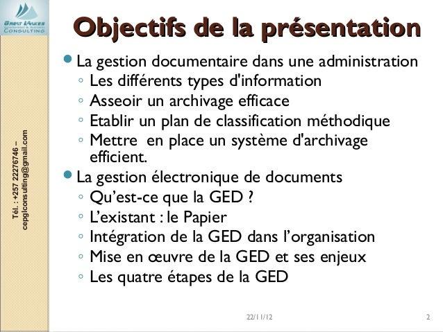 Gestion documentaire et utilité de la gestion électronique de documents Slide 2