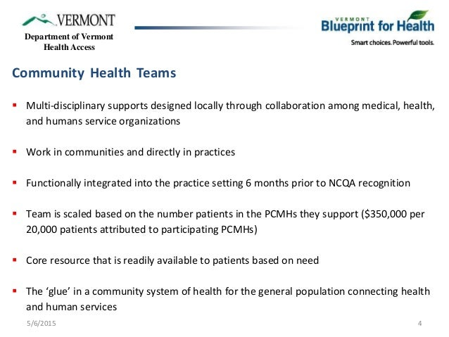 Vermont blueprint for health community system of health blueprint advanced primary care practices 4 department of vermont health malvernweather Image collections