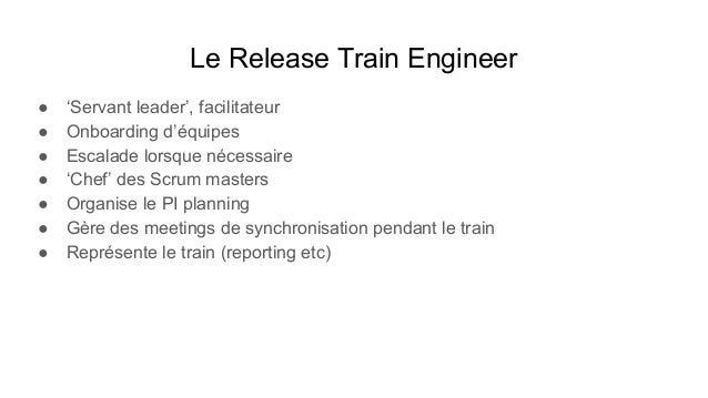 Le Product Manager ● Identifie les exigences utilisateurs (Understand requirements) ● Responsable du program backlog (Docu...