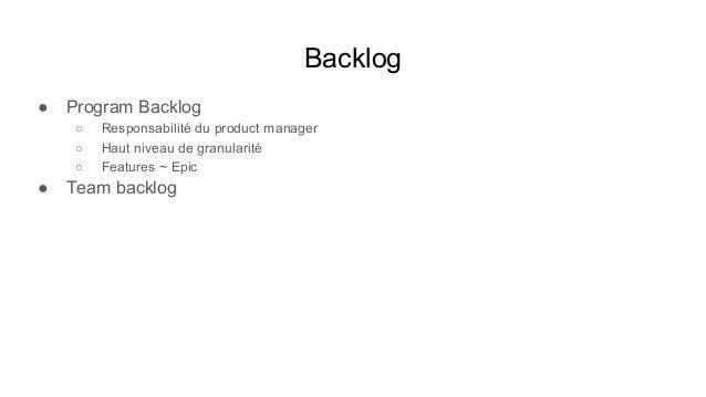 PI Planning Déroulement ● Product Management (PM + PO) présente vision métier, contexte, enjeux et roadmap ● Animé par le ...