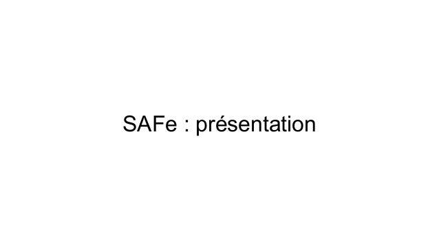 SAFe : présentation