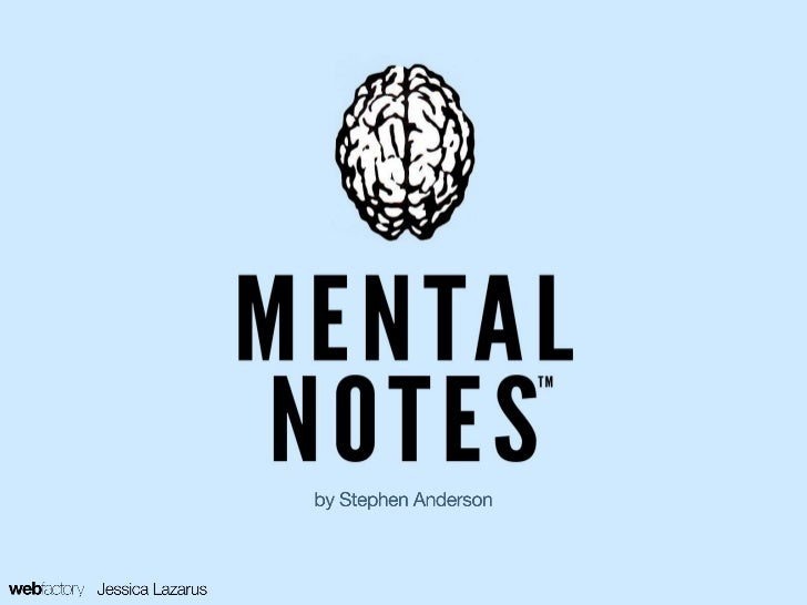 Stephen Andersons Mental Notes™ Cards