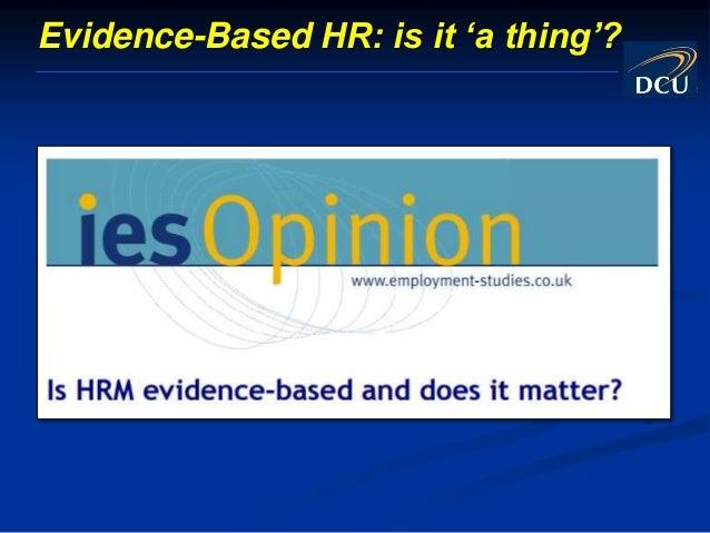 Getting Started With Evidence-Based HR Slide 2