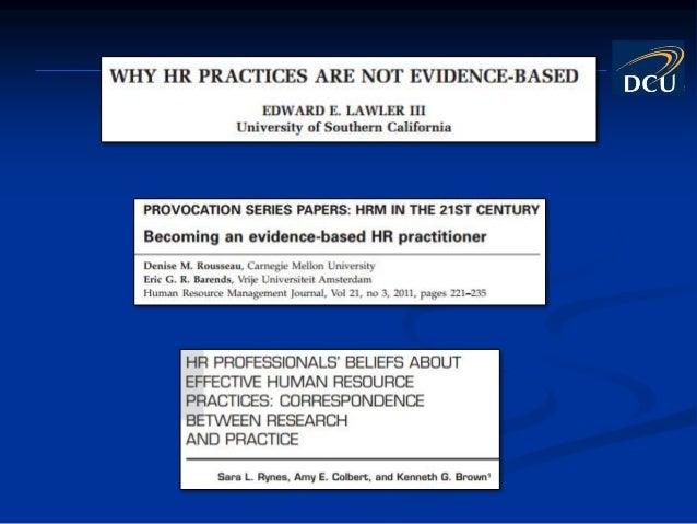 Getting Started With Evidence-Based HR Slide 3