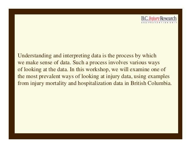 Making sense of injury data Slide 2