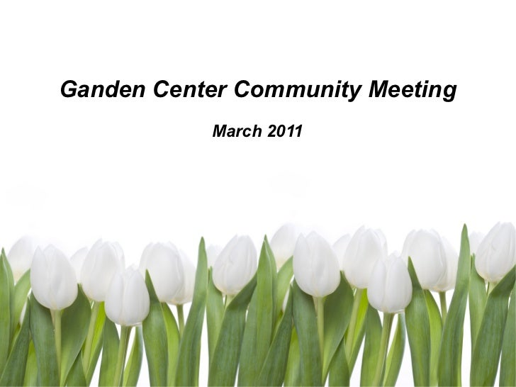 Ganden Center Community Meeting March 2011