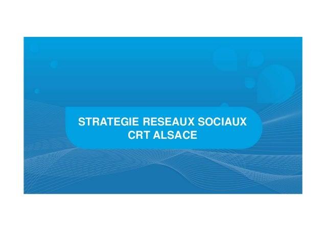 STRATEGIE RESEAUX SOCIAUX       CRT ALSACE