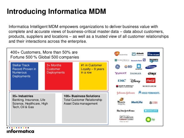 Informatica MDM Presentation