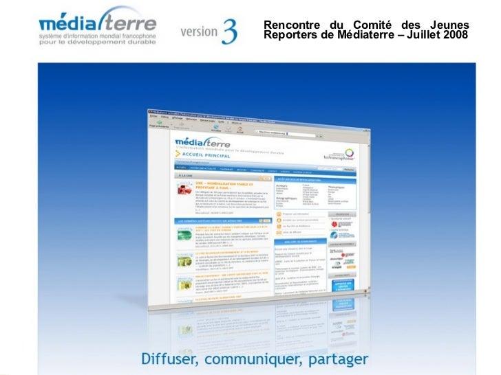 Réunion des coordinateurs A21, Onex, 16 mars 2007 Présentation générale de Médiaterre, le système mondial d'information fr...