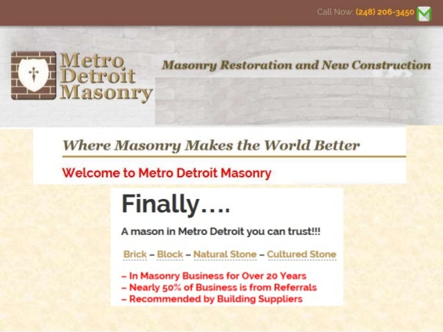 • Brick, Stone, and Block Repair and Restoration and Tuck Pointing Masonry Service: We can work on your chimney, porch, st...