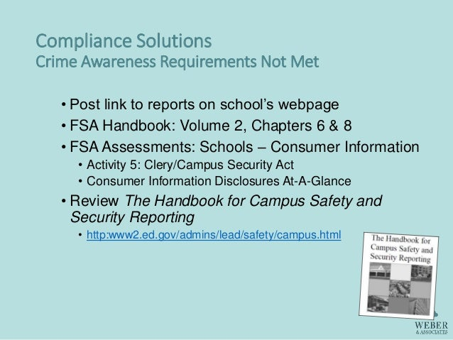 crime awareness and campus security Any reported crimes on campus are investigated by the campus police the passage of the campus security and crime awareness act in 1990 requires that all colleges.