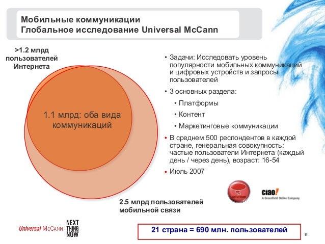 112.5 млрд пользователеймобильной связи>1.2 млрдпользователейИнтернета1.1 млрд: оба видакоммуникаций21 страна = 690 млн. п...