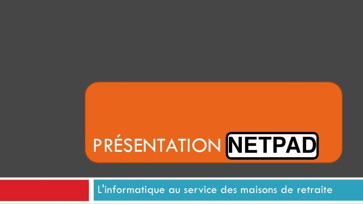 Presentation netpad