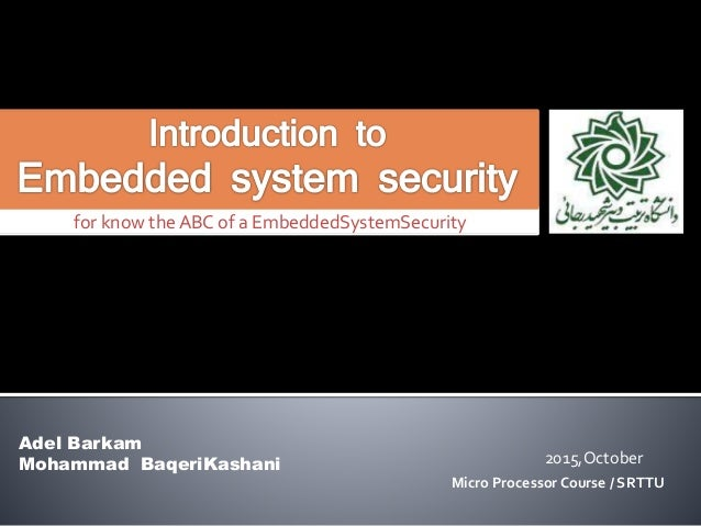 introduction to Embedded System Security
