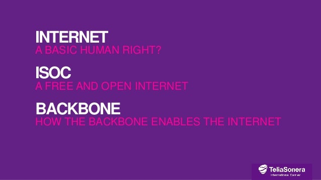 Connectivity – First world problem or basic human right?  Slide 2
