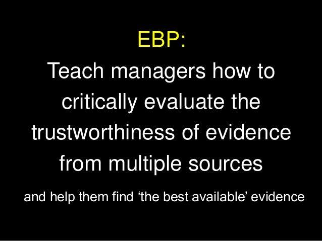 3. Teaching EBP: Curriculum