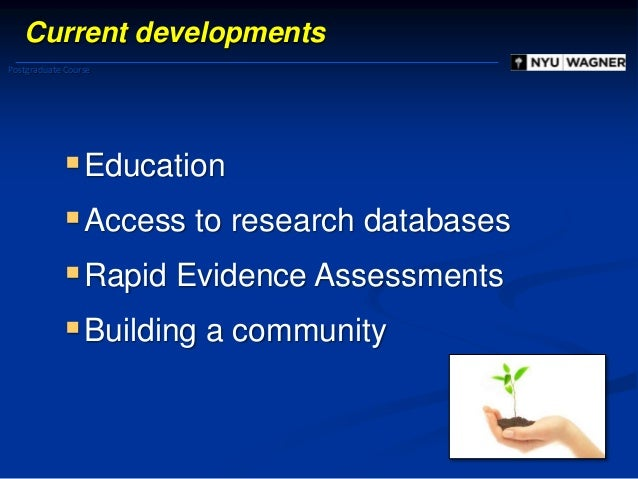 Evidence based management: What is it? 1. Some background