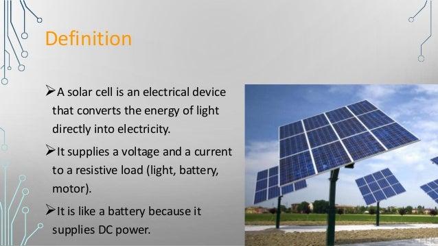 Presentation On Solar Cells