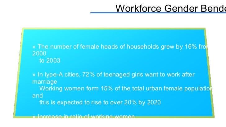 Workforce Gender Bender <ul><li>The number of female heads of households grew by 16% from 2000 </li></ul><ul><li>to 2003 <...