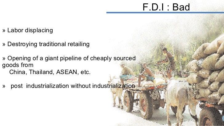 <ul><li>Labor displacing </li></ul><ul><li>Destroying traditional retailing </li></ul><ul><li>Opening of a giant pipeline ...
