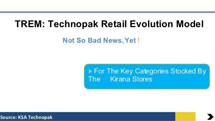 TREM: Technopak Retail Evolution Model Not So Bad News, Yet  ! Source: KSA Technopak <ul><li>For The Key Categories Stocke...