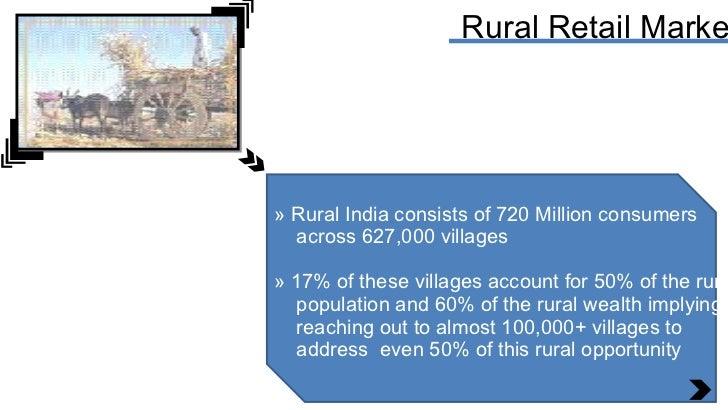 Rural Retail Market <ul><li>Rural India consists of 720 Million consumers </li></ul><ul><li>across 627,000 villages </li><...