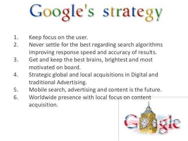 1.   Keep focus on the user.2.   Never settle for the best regarding search algorithms     improving response speed and ac...