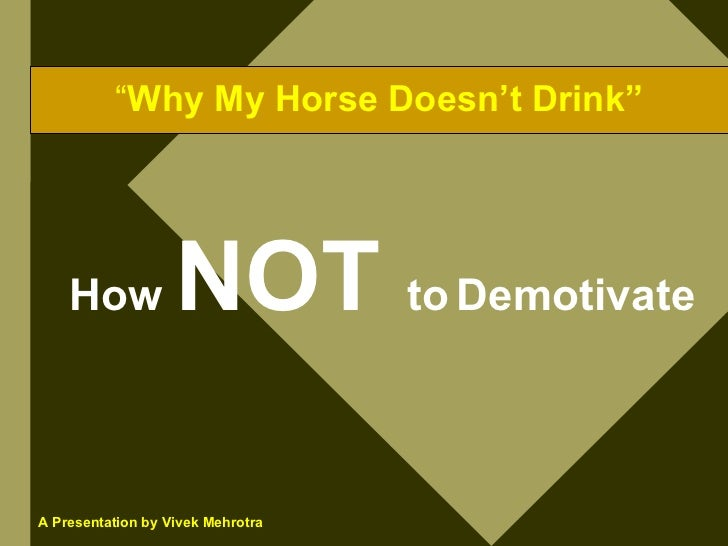 Why My Horse Doesn T Drink