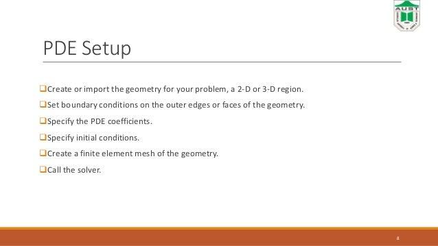 Presentation on Matlab pde toolbox