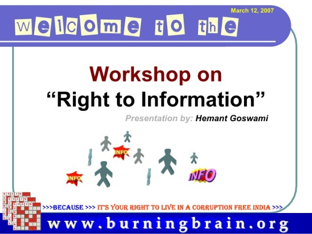 ".'trl- I Hill'   - i""l  l""  I i:   r ""Right to Information""  Hemant Goswami  11""/5:)  Hz. ' ,    ( v—i I I>>>BECAUSE >>> I..."