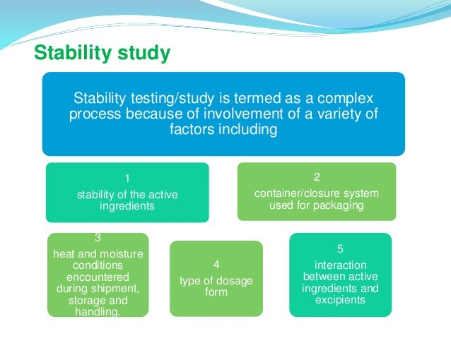 SOP on Stability Studies for Drug Products | Pharma Pathway