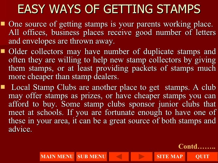 presentation on stamp collecting 43