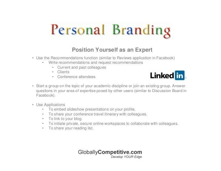 Branding Statement  Branding Statement Resume