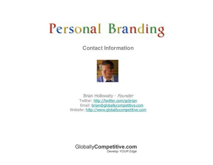 Personal Branding Using Social Media