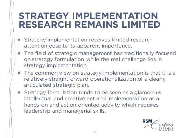 thesis strategy implementation