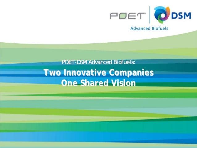 AuthorAuthor's TitleEventDatePresentation TitlePOETPOET--DSM Advanced Biofuels:DSM Advanced Biofuels:Two Innovative Compan...