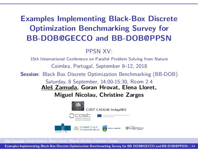 Examples Implementing Black-Box Discrete Optimization