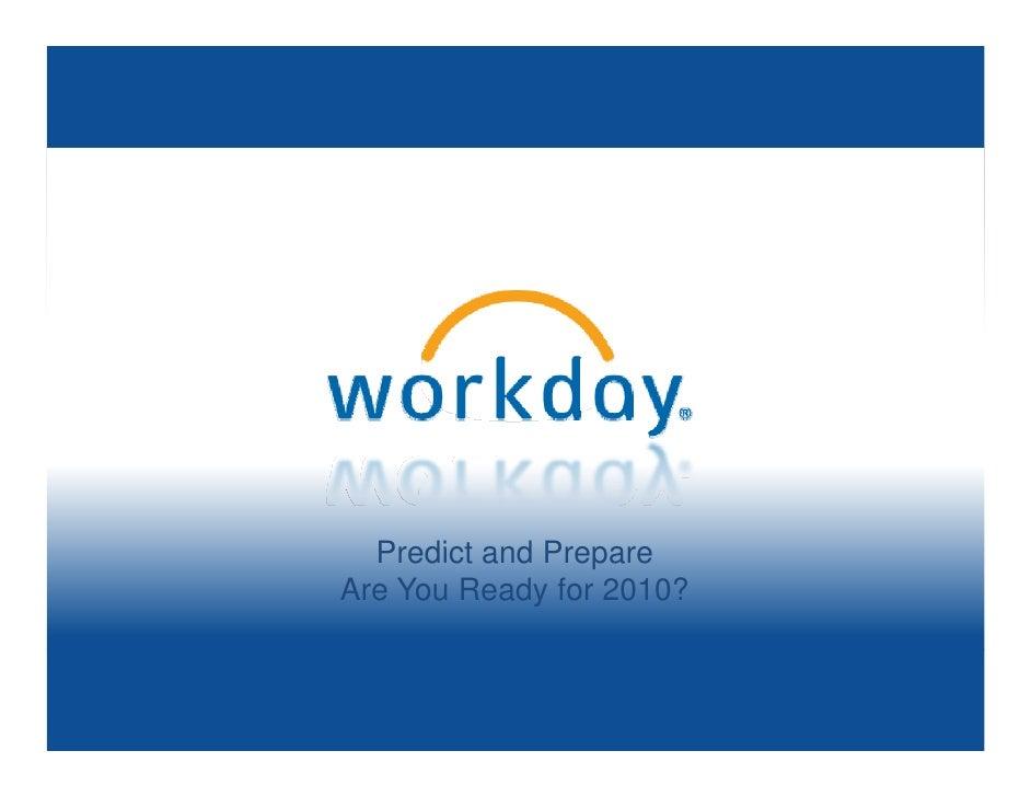 Predict and Prepare Are You Ready for 2010?