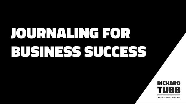 JOURNALING FOR BUSINESS SUCCESS