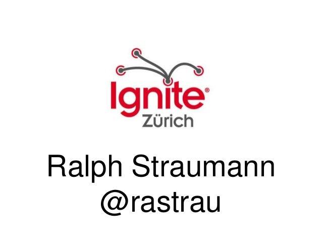 Ralph Straumann @rastrau