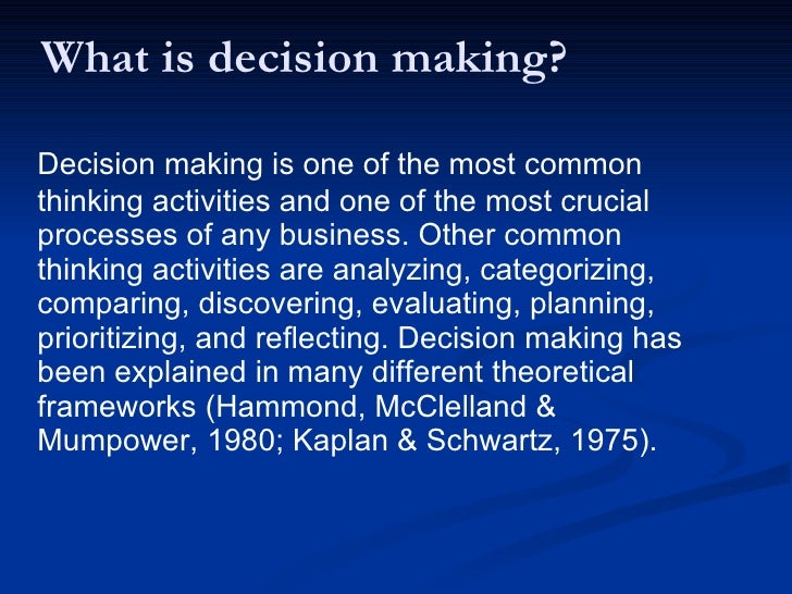knowledge management for decision making essay Find essay examples get a knowledge management this paper provides the research on the importance of 'expert system' in the management decision making.