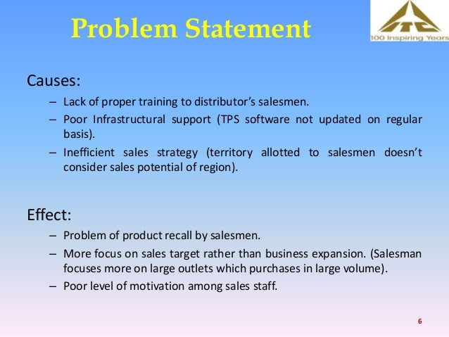 presentation sales distribution at itc