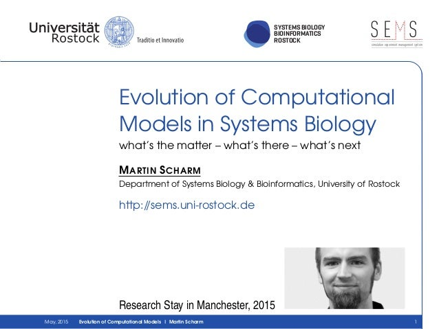 SYSTEMS BIOLOGY BIOINFORMATICS ROSTOCK S E Ssimulation experiment management system Evolution of Computational Models in S...