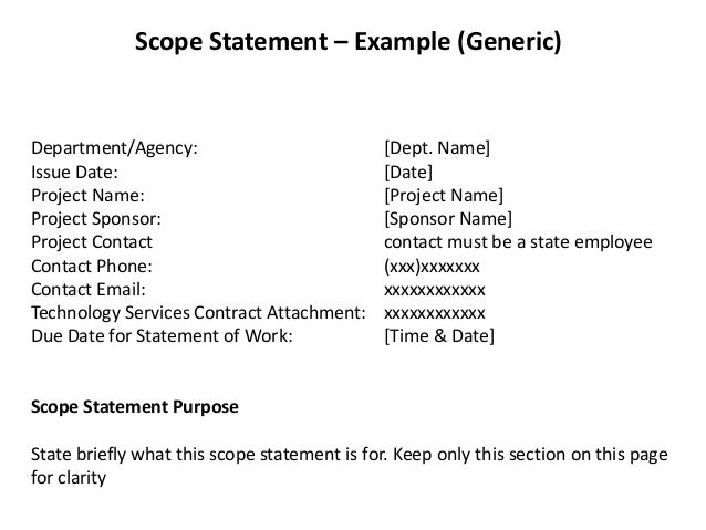 how to write the scope of a research project