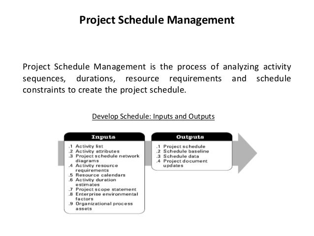 project schedule presentation