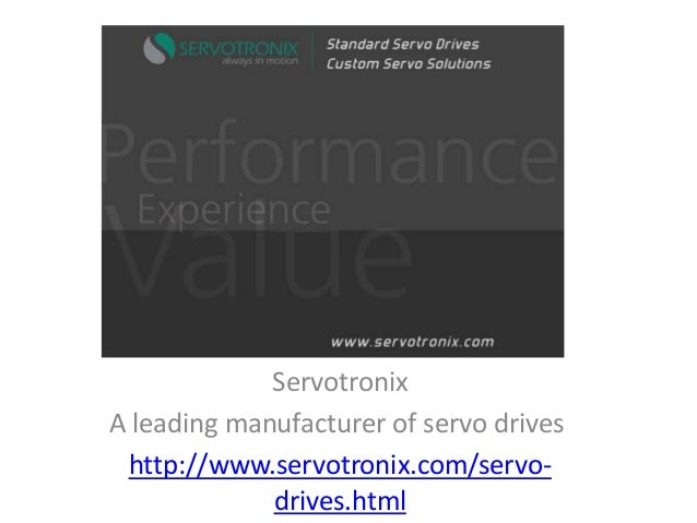 Servotronix A leading manufacturer of servo drives http://www.servotronix.com/servodrives.html