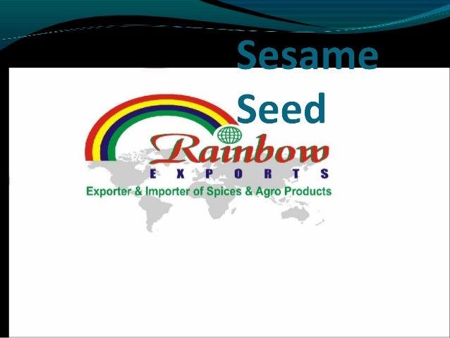 Presentation  sesame seeds